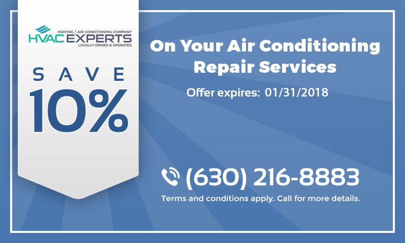 A coupon that gives 10% discount on air conditioning repair services.