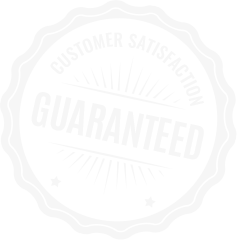 A badge that says Customer Satisfaction Guaranteed