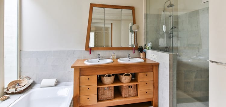 wood furniture bathroom