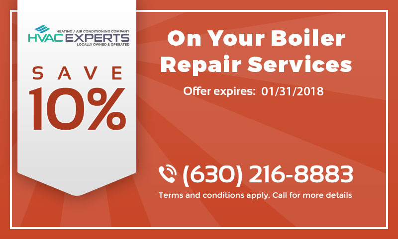 A coupon that gives 10% discount on boiler repair services.