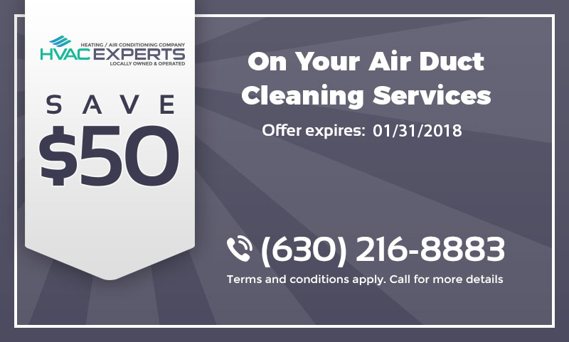 A coupon that gives $50 discount on duct cleaning services