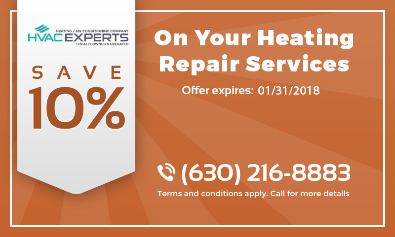 A coupon that gives 10% discount on heating repair services